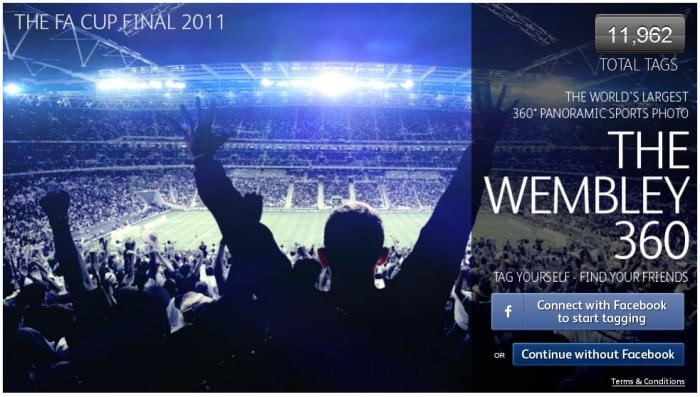 360 stopni ze stadionu Wembley